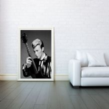 David Bowie, Decorative Arts, Prints & Posters, Wall Art Print, Poster Any Size - Black and White Poster
